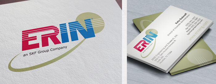 Updated logo and two-sided business card for a Walnut Creek engineering and research company.