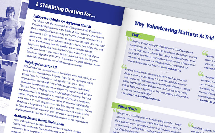Quarterly newsletter design