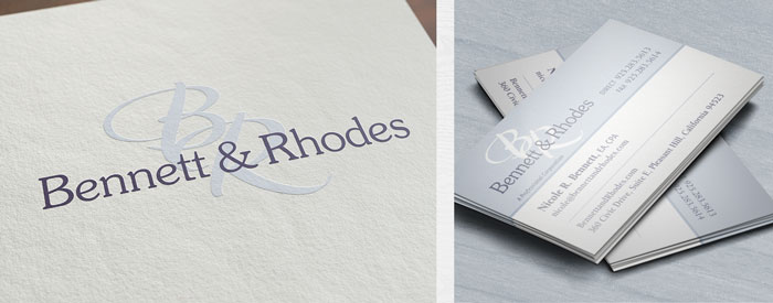Logo design for CPA/Accounting firm Bennett & Rhodes