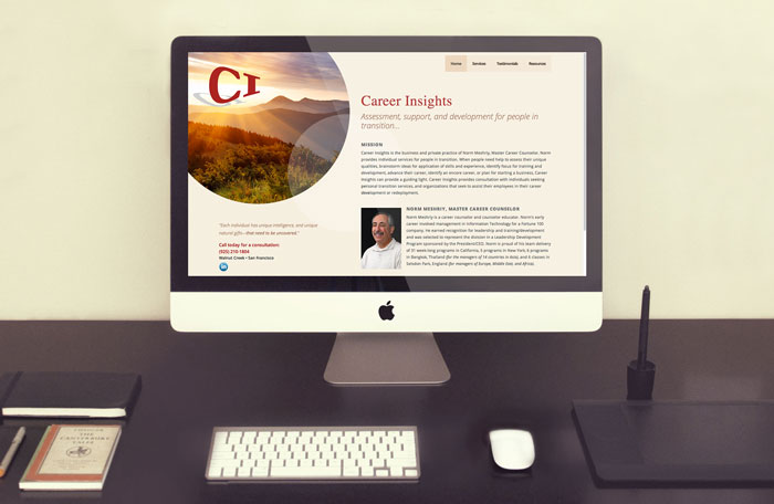 responsive website design shown on desktop computer