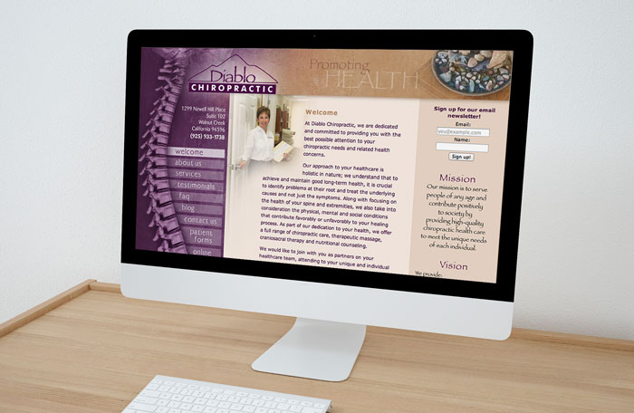 Website design and development for bay area chiropractor