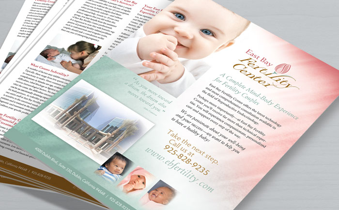 Two-sided flyer design for East Bay Fertility