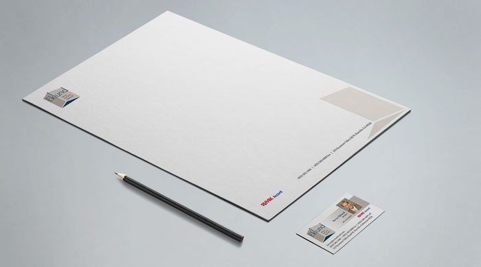 Stationery and business card design.