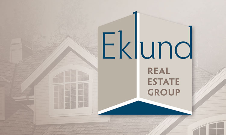 Logo, business card, stationery, and postcard design for Eklund Real Estate Group